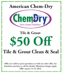 Tile & Grout Coupon