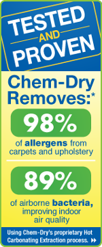 Chem-Dry removes 98% of allergens